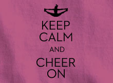 Keep Calm and Cheer On Design
