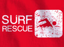 Surf Rescue T Shirt Design Template