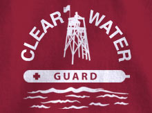 Clear Water Life Guard T-Shirt Design