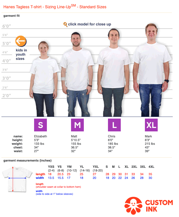 How To Find What Size T-Shirts Will Fit Your Group
