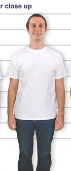 CustomInk Sizing Line-Up For Hanes Tagless T-shirt - Standard Sizes