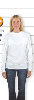 02336238 Hanes ComfortSoft® Long Sleeve Tagless T-shirt - Sizing Line-UpSM - Standard  Sizes. print. close. garment fit