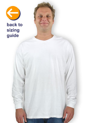 78509cbc CustomInk Sizing Line-Up for Hanes ComfortSoft® Long Sleeve Tagless T-shirt  - Standard Sizes