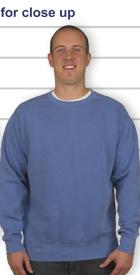 alpha colors phi blue comfort crewneck comforter in sweatshirt