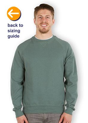 CustomInk.com Sizing Line-Up for Hanes Nano Crewneck Sweatshirt ...