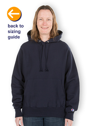 1043850df82a CustomInk.com Sizing Line-Up for Champion Heavyweight Reverse Weave®  Pullover Hoodie - Standard Sizes