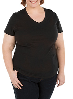 Customink Sizing Line Up For Hanes Women S Just My Size Plus V Neck
