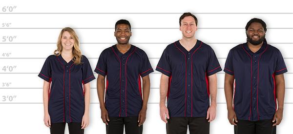 baseball jersey sizes
